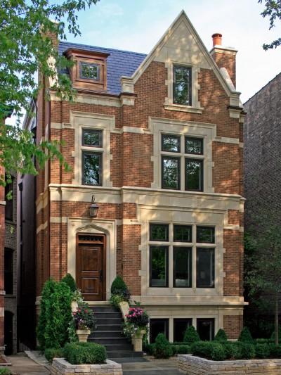 renovated brick home exterior chicago