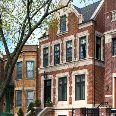 renovated brick home facade chicago