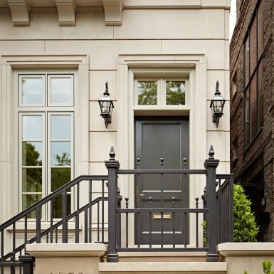 chicago renovated home facade front door