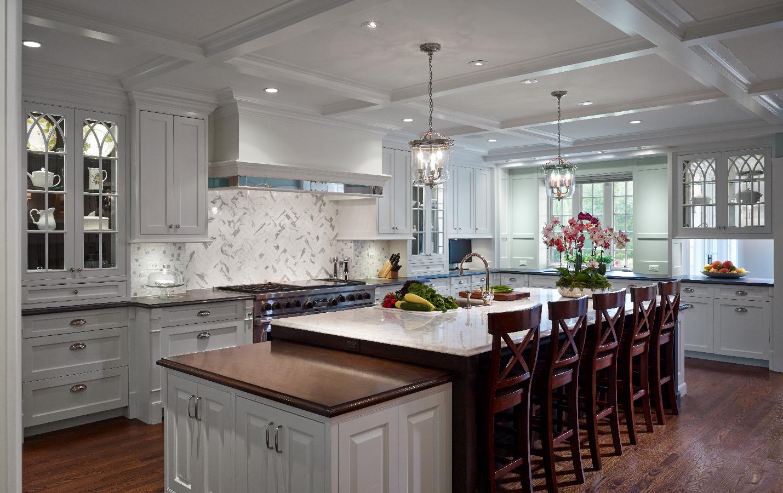 chicago custom kitchen with white stone countertops