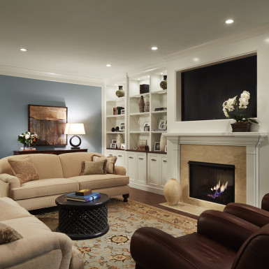 cozy living room home staging