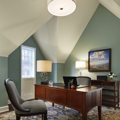 home office in renovated attic chicago