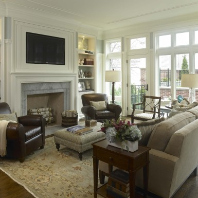 living room with large windows chicago