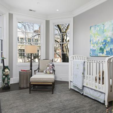 chicago custom home nursery design