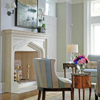 living room formal furniture staging chicago
