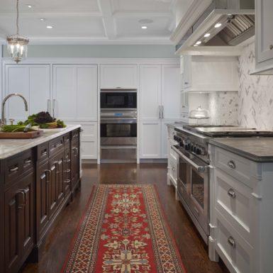 northfield illinois luxury white kitchen hardwood floors