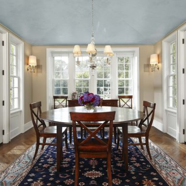 northfield illinois dining room with double french doors