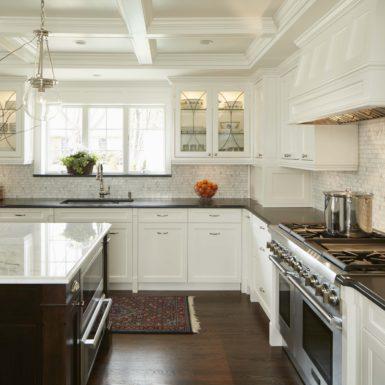 northfield illinois custom kitchen design brown and white