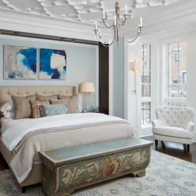 chicago luxury home master bedroom custom ceiling pattern