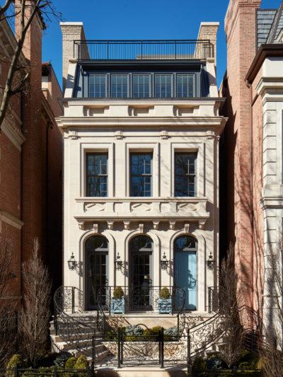 chicago renovated home stone exterior