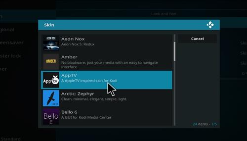 How to Install AppTV Skin with Screenshots step 5