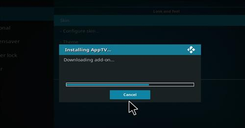 How to Install AppTV Skin with Screenshots step 6
