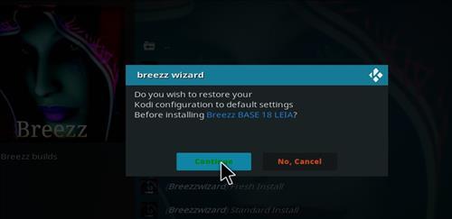 How to Install Breezz Base Kodi Build 18 Leia step 24
