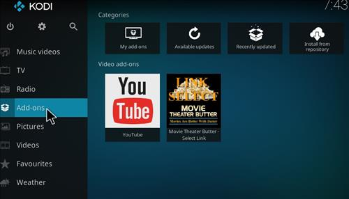 How to Install Movie Theater Butter Kodi Add-on Select link step 8