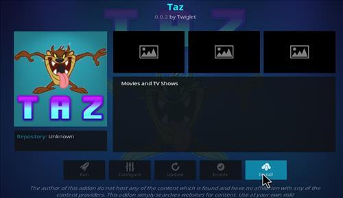 How to Install Taz Kodi Add-on with Screenshots step 18