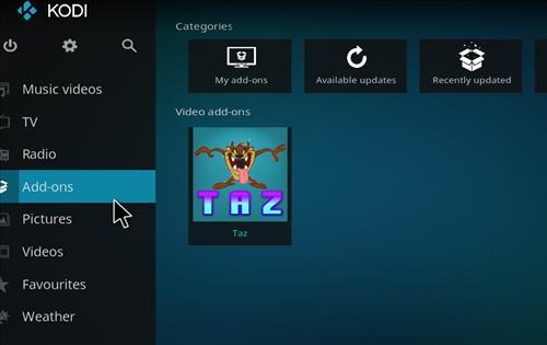 How to Install Taz Kodi Add-on with Screenshots step 8
