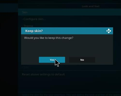 How to change the Skin back to Default Estuary titanium step 5