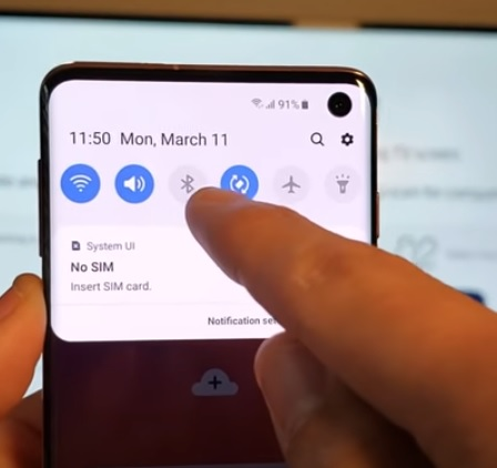 How to Screen Mirror to Samsung Smart TV Galaxy S10, S10E, S10+ Step 4