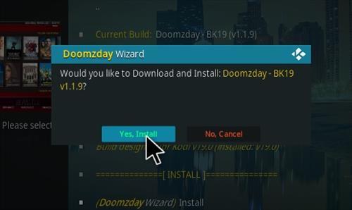 How to Install Doomzday BK 19 Kodi 19 Matrix Build Step 26