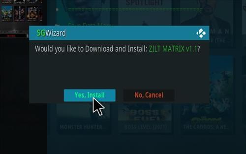 How To Install Zilt Kodi 19 Matrix Build Step 17