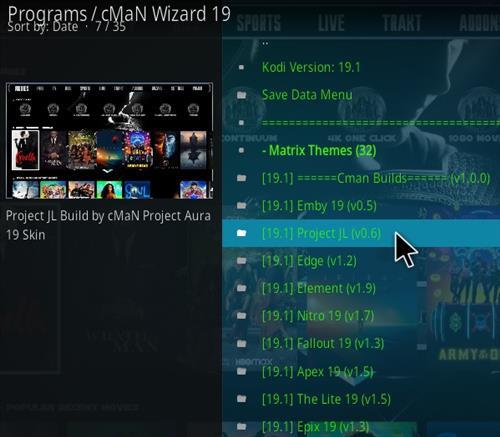 How to Install CMan JL Justice League Kodi 19 Matrix Build Step 22