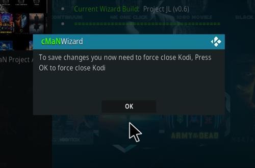 How to Install CMan JL Justice League Kodi 19 Matrix Build Step 27