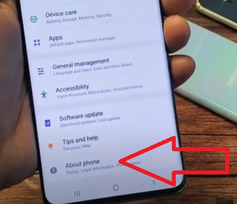 How To Enable Developer Options Galaxy S20 Step 2