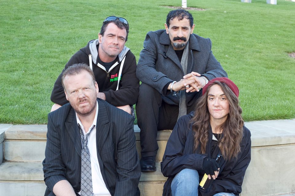 back-row-left-to-right-director-steve-call-and-actor-kuljit-singh-front-row-dean-sills-lead-actor-and-jessie-joan