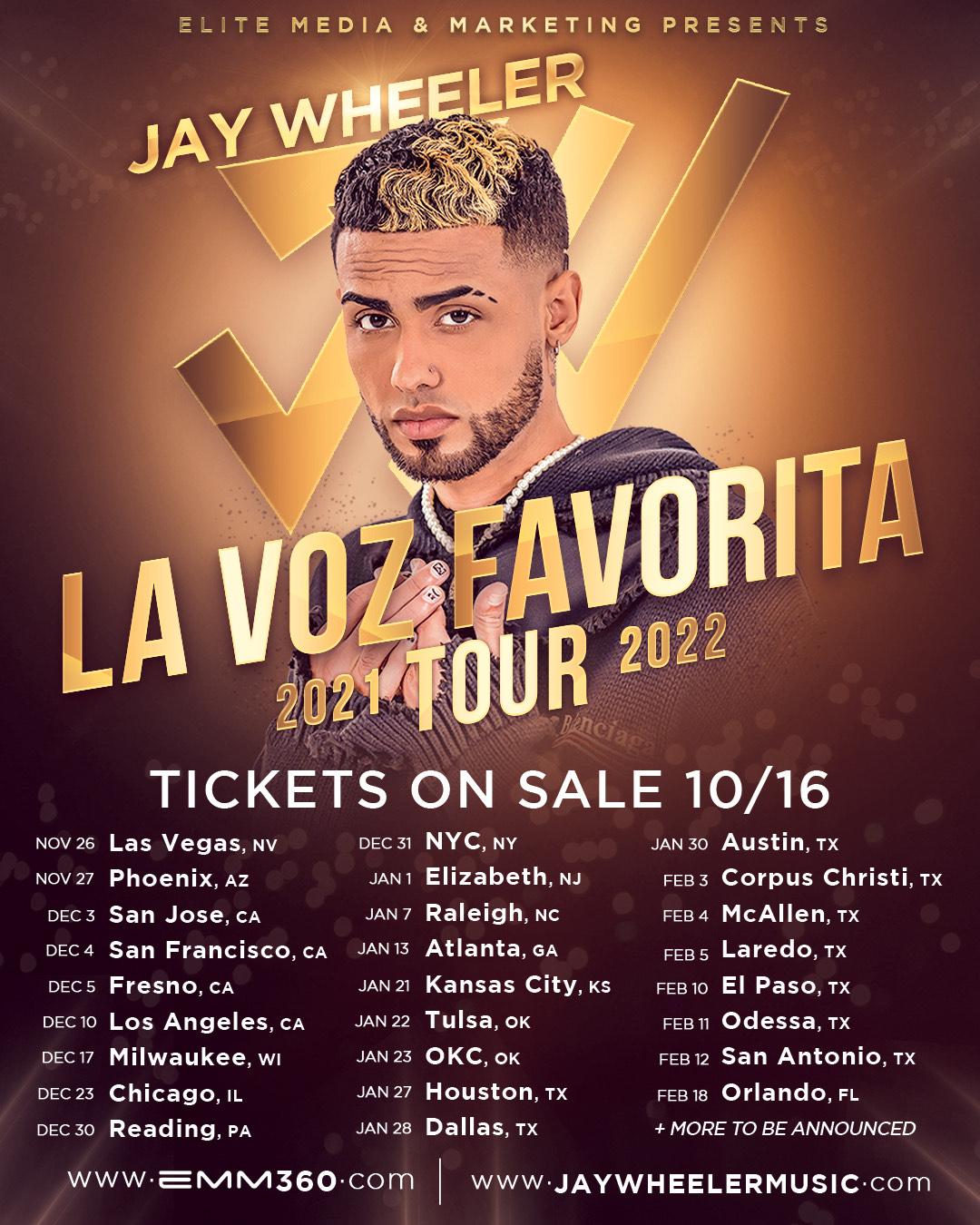 """Jay Wheeler Announces """"La Voz Favorita Tour"""""""