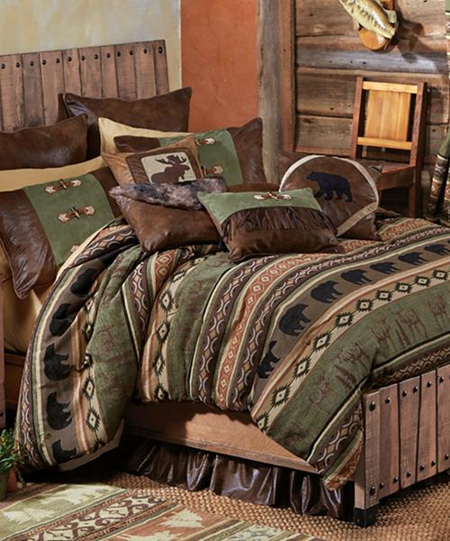 Timber Woods Moose & Bear Cabin Bedding Set