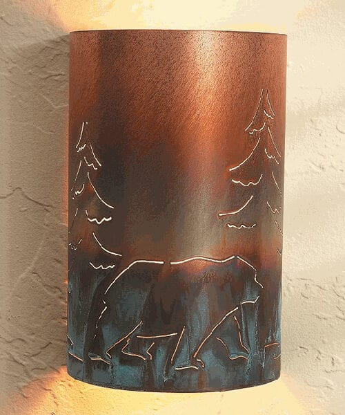 Bear Copper Sconce