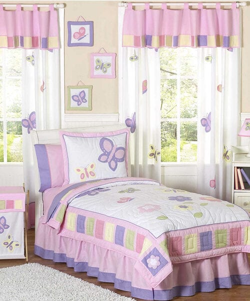 Jojo Designs Pink Butterfly Bedding