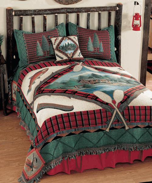Lake Cabin Tapestry