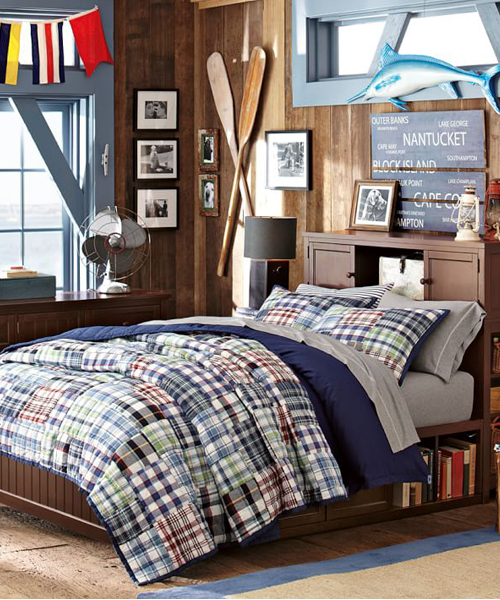 Madras Boys Quilt Set