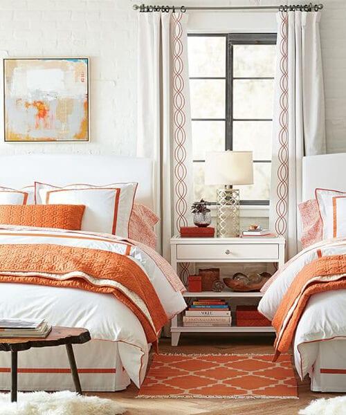 Orange Bedding