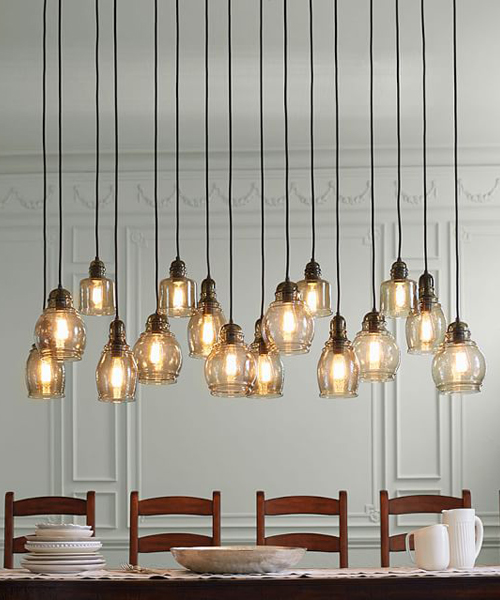 Paxton Rustic Glass Chandelier