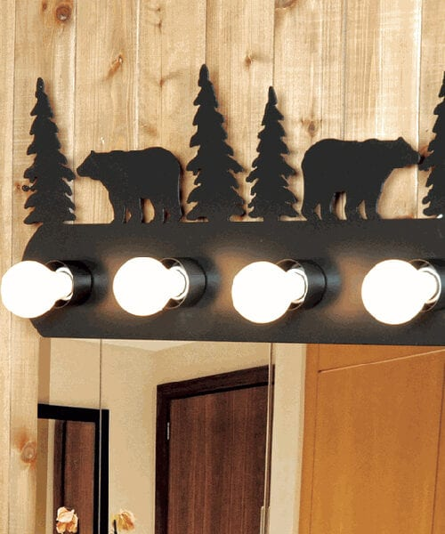 Rustic Bear Vanity Light