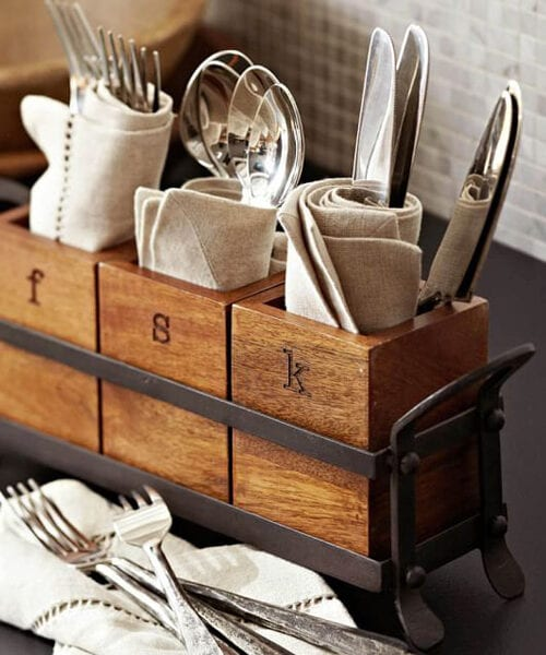 Vintage Flatware Caddy