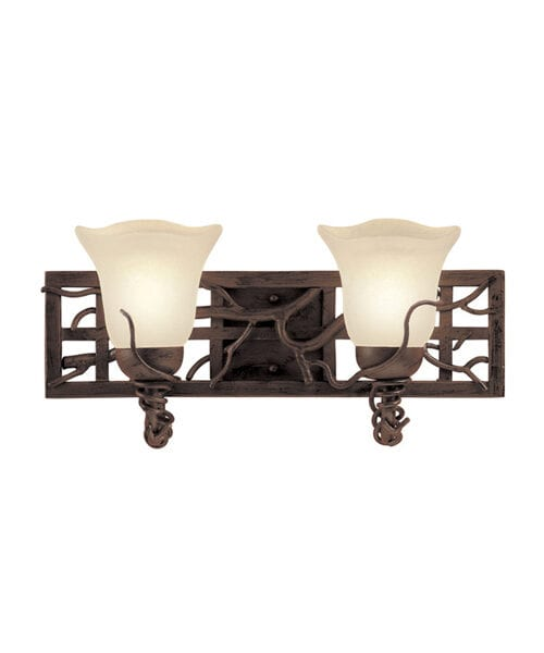 Vince Two Vanity Rustic Light