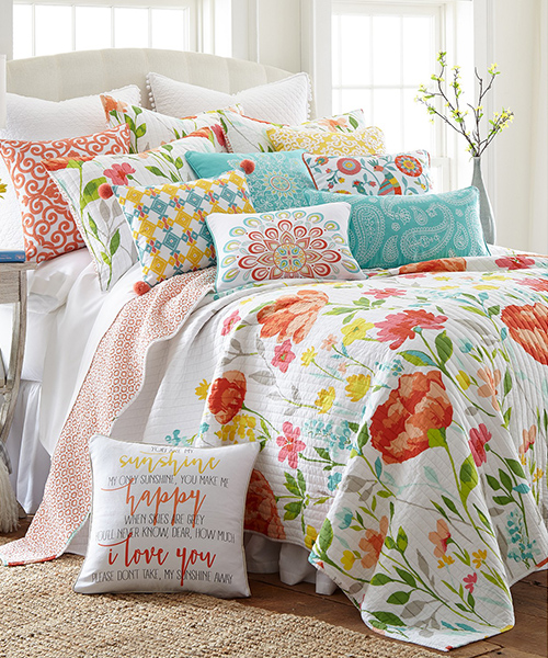 Girls Colorful Quilt Bedding