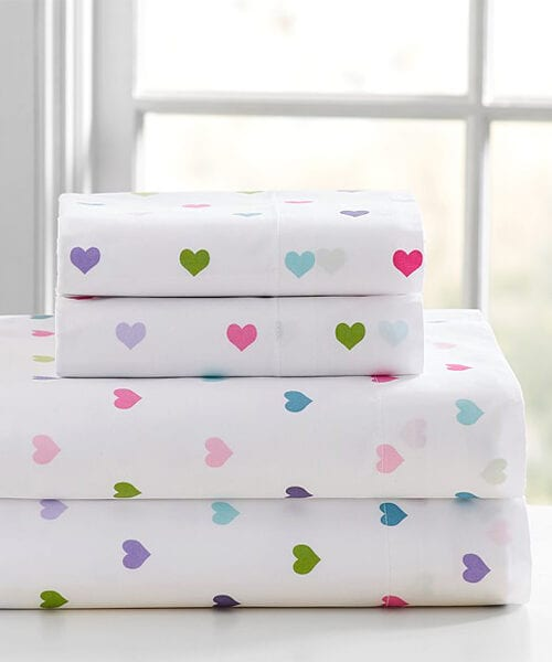 Girls Heart Sheets