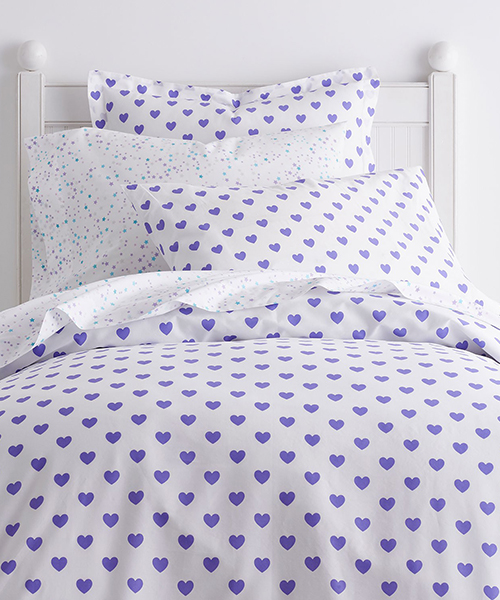 Kids Heart Bedding