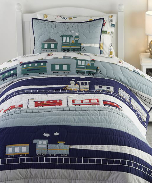 Little Boys Quilts | Maxwell Train Quilt