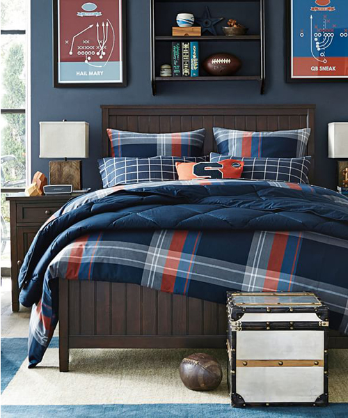 Boys Plaid Duvet Cover