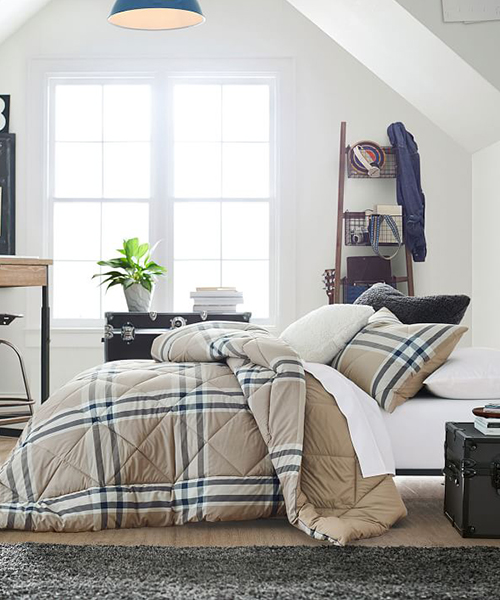 Plaid Boys Bedding