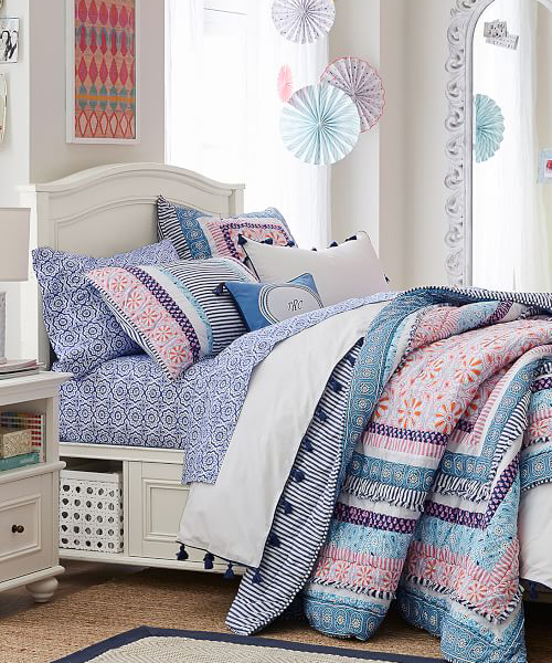 Zadey Cozy Patchwork Paisley Quilt | Girls Quilts