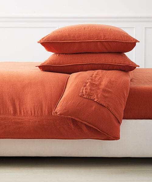 Orange Duvet Cover | Terracotta Colored Bedding