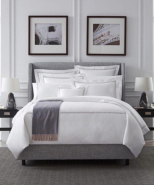 Sferra Luxury Hotel Bedding | Black & White Bedding