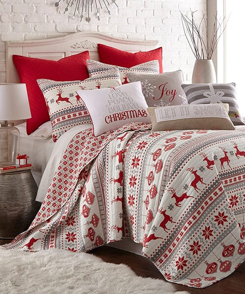 Sleigh Bells Christmas Bedding Set Collection