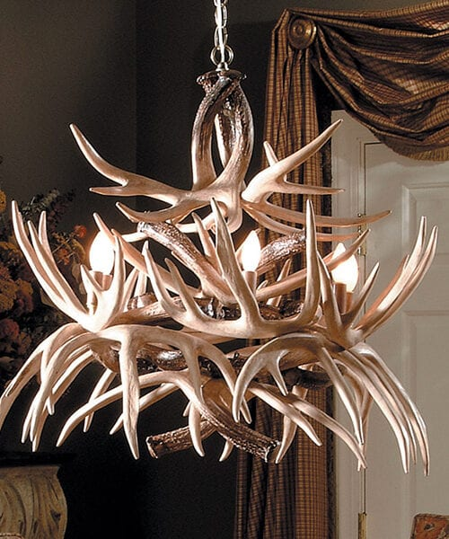 Reproduction Antler Chandelier